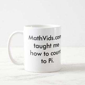 MathVids.com taught me how to count to Pi Coffee Mug