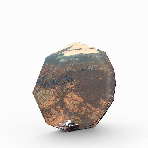 Matijevic Hill Panorama From Mars Rover Acrylic Award