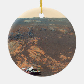 Matijevic Hill Panorama From Mars Rover Ceramic Ornament
