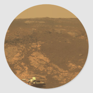 Matijevic Hill Panorama from Mars Rover Classic Round Sticker