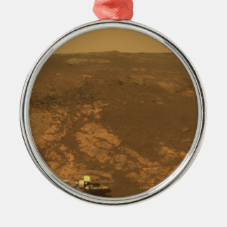 Matijevic Hill Panorama from Mars Rover Metal Ornament