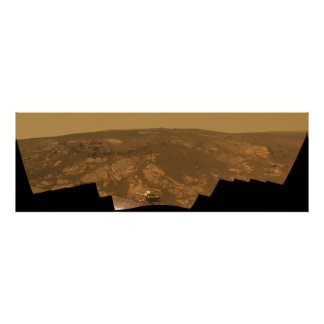 Matijevic Hill Panorama from Mars Rover Poster