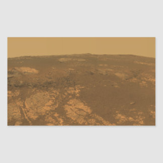 Matijevic Hill Panorama from Mars Rover Rectangular Sticker
