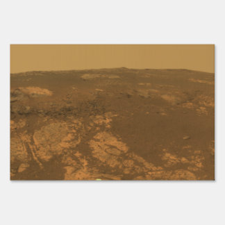 Matijevic Hill Panorama from Mars Rover Yard Sign