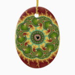 Matilda21a - Fractal Art Ceramic Ornament