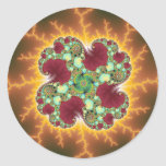 Matilda 17 - Fractal Art Classic Round Sticker