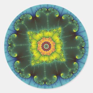 Matilda 1 - Arte del fractal Pegatina Redonda