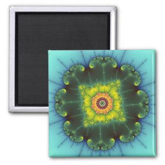 Matilda 1 - Fractal Art 2 Inch Square Magnet