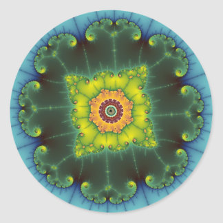 Matilda 1 - Fractal Art Classic Round Sticker