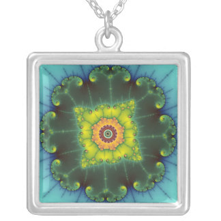 Matilda 1 - Fractal Art Silver Plated Necklace