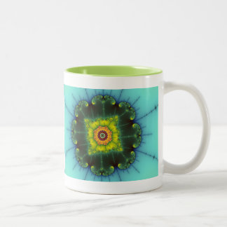 Matilda 1 - Fractal Art Two-Tone Coffee Mug