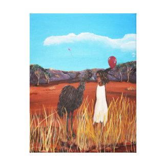 Matilda and Emu Canvas