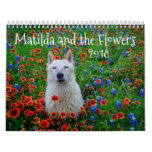 Matilda and the Flowers Calendar<br><div class='desc'>Matilda is my beloved pup of almost 13 years. She was a stray who rescued me when she took shelter in my rural home in Texas. She is smart and sweet, and always ready with a smile. I started photographing her on our adventures around Texas, and eventually, we made our...</div>
