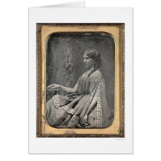 Matilda C. Heron [CA 1850] Tarjeta De Felicitación
