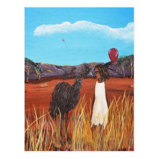 Matilda & Emu Postcard