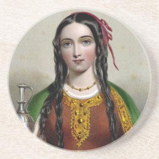 Matilda of Scotland Sandstone Coaster