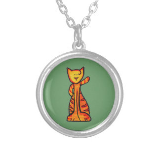 Matilda the Meow, Round Pendant Necklace