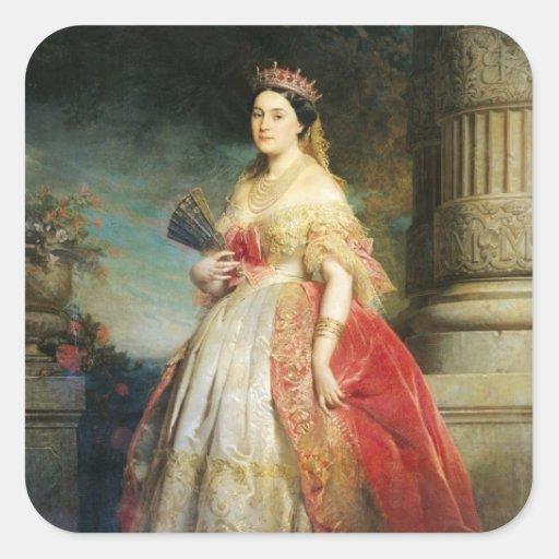 Matilde Leticia Wilhelmine Bonaparte 1861 Pegatina Cuadrada