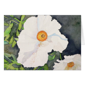 Matilija Poppies II Card