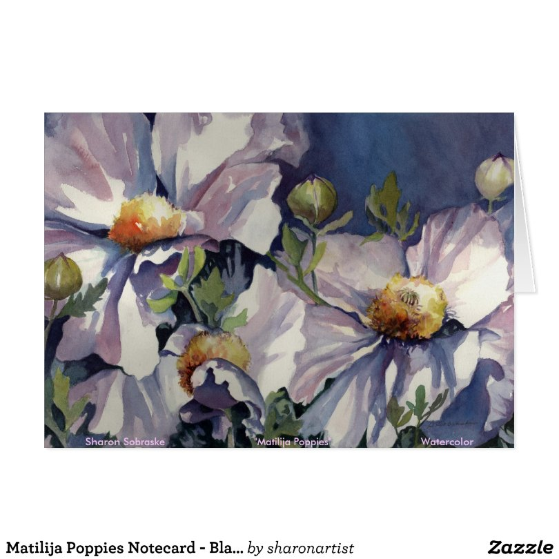 Matilija Poppies Notecard - Blank