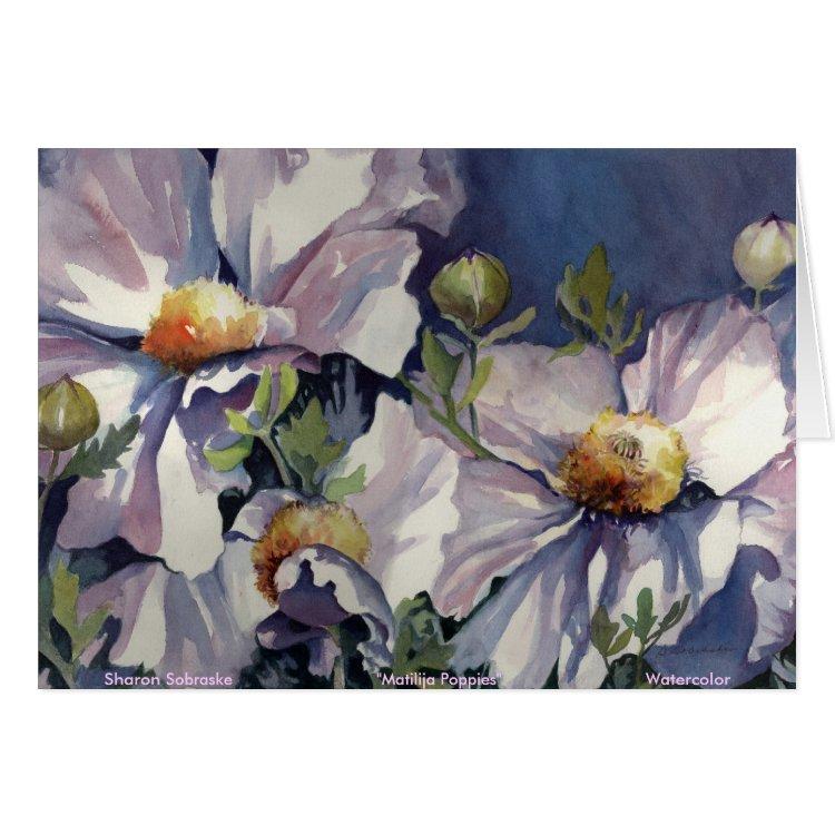 Matilija Poppies Notecard - Blank