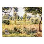Matin a Eragny by Camille Pissarro Postcard