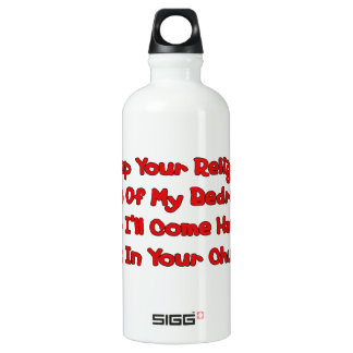 Mating In Your Church Aluminum Water Bottle