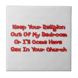 Mating In Your Church Ceramic Tile