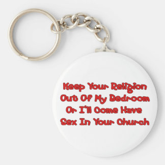 Mating In Your Church Keychain
