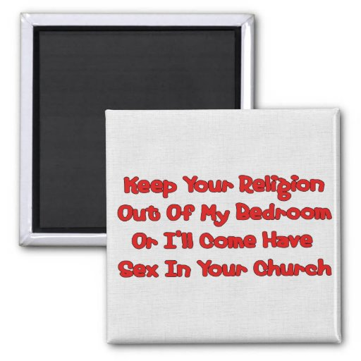 Mating In Your Church Refrigerator Magnet