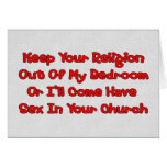 Mating In Your Church Stationery Note Card