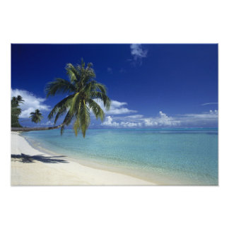 Matira Beach on the island of Bora Bora, 2 Photo Print