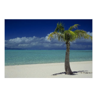 Matira Beach on the island of Bora Bora, 2 Poster