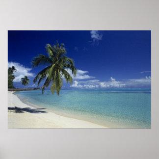 Matira Beach on the island of Bora Bora, Poster