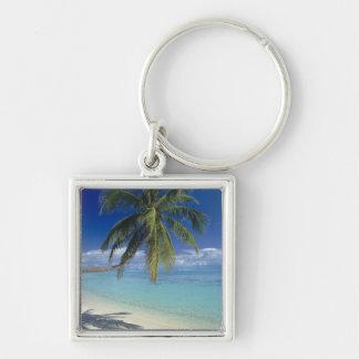 Matira Beach on the island of Bora Bora, Society Keychains
