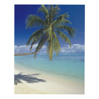 Matira Beach on the island of Bora Bora, Society Panel Wall Art