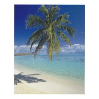 Matira Beach on the island of Bora Bora, Society Panel Wall Art