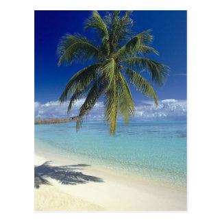 Matira Beach on the island of Bora Bora, Society Postcard