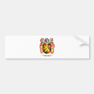 Matis Coat of Arms Family Crest Bumper Sticker