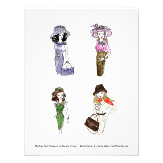 Matisse Doll Fashions - Card 3, 4.25 x 5.5 Invites