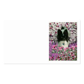 Matisse en las flores - blancas y el perro negro d plantilla de tarjeta personal