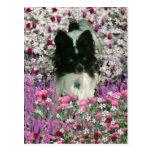 Matisse en las flores - blancas y el perro negro d tarjetas postales