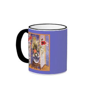 Matisse Flowers in a Bowl Ringer Coffee Mug