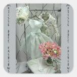 Matisse - guardarropa perfecto de la flor del pegatinas cuadradas personalizadas