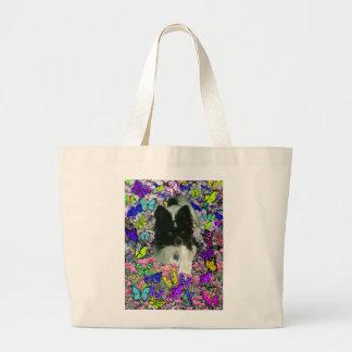 Matisse in Butterflies II - White & Black Papillon Jumbo Tote Bag
