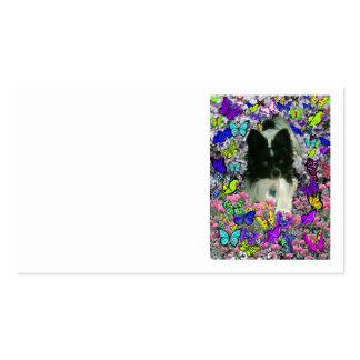 Matisse in Butterflies II - White & Black Papillon Business Card
