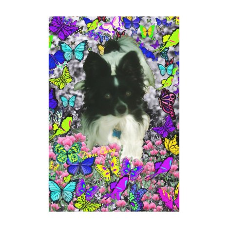 Matisse in Butterflies II - White & Black Papillon Canvas Print