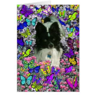 Matisse in Butterflies II - White & Black Papillon Card