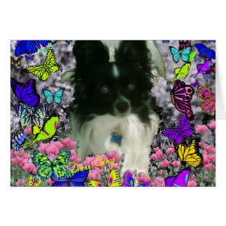 Matisse in Butterflies II - White Black Papillon Card