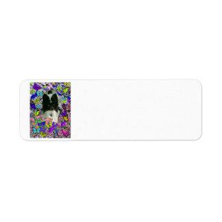 Matisse in Butterflies II - White Black Papillon Custom Return Address Label